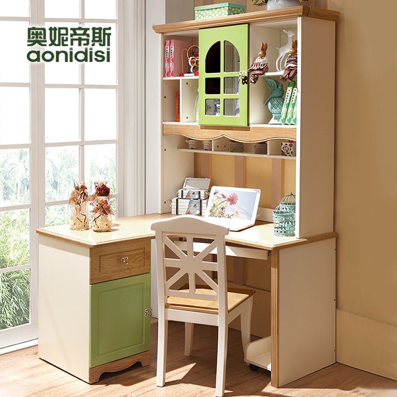 Olive otis modern minimalist wood desktop computer desk home student study desk children's desk