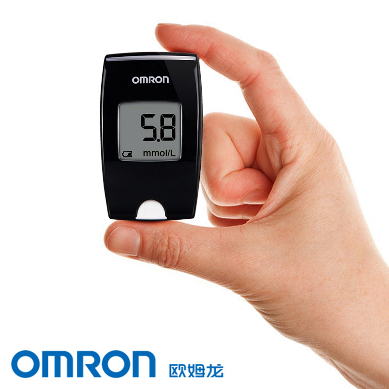 Omron blood glucose meter blood glucose test strips HGM-114 aninma 25 smart home free barcode glucose meter blood glucose meter