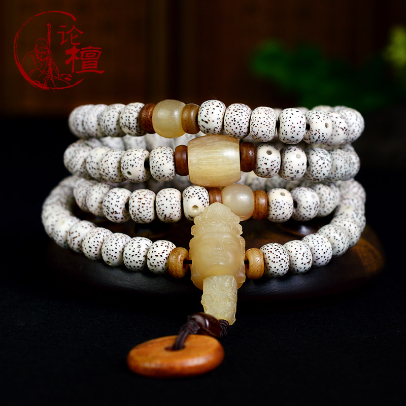 On tan lunar January 108é¢bracelet hainan xingyue bodhi 108 month high density along the white a chain of men and women of prayer beads bracelet pu tizi