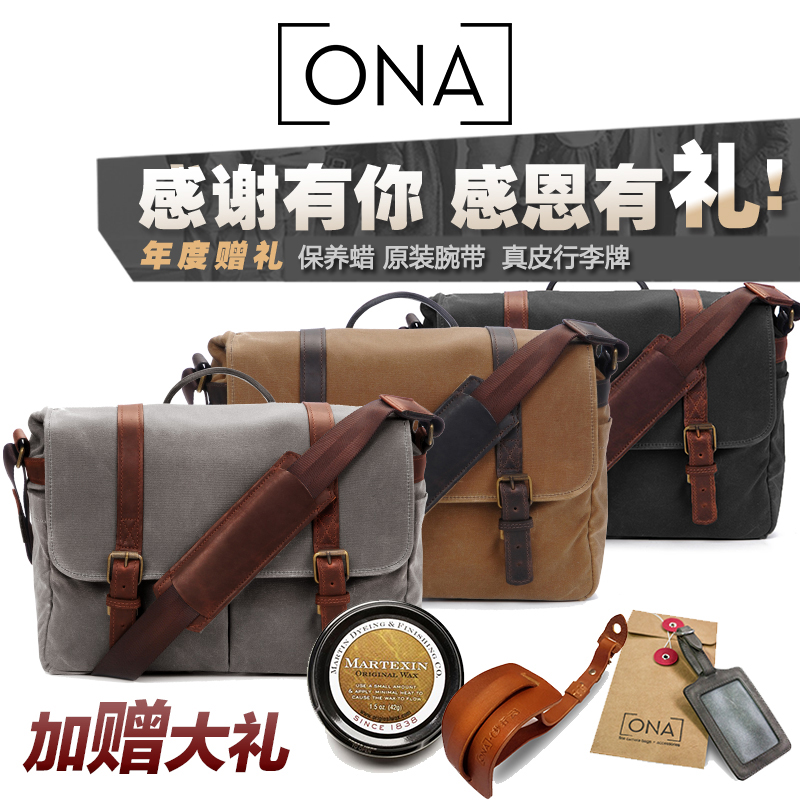 Ona the brixton diagonal shoulder camera bag camera bag retro canvas hand bag sf spot