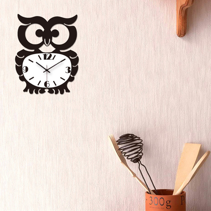 One hundred custom personalized wall clock owl mighty big personality sided wall clock creative living room wall clock watch