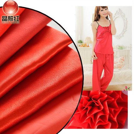 Opening ceremony wedding red cotton cloth to do big red belt red silk cloth fabrics cotton fabrics