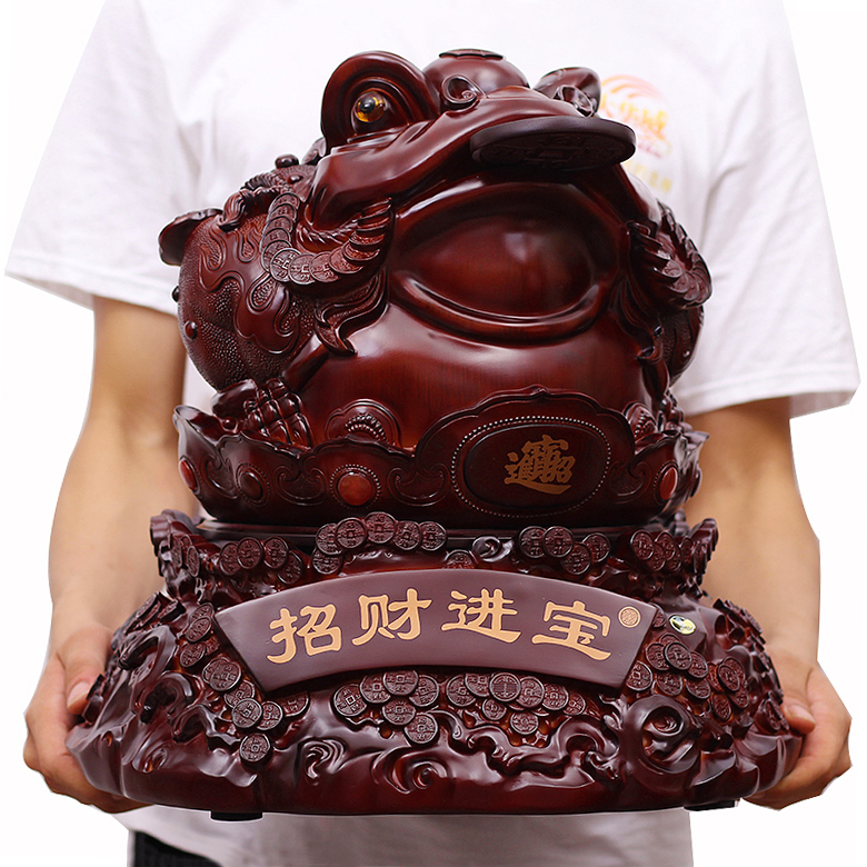 Opening feng shui fortune toad ornaments large office desk ornament crafts shop opened gift