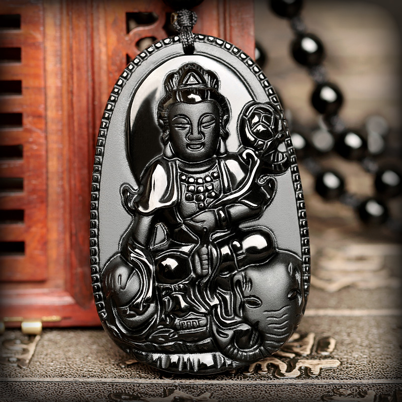 Opening natal buddha samantabhadra natal buddha pendants akasagarbha patron saint of obsidian snakes mascot men and women necklace