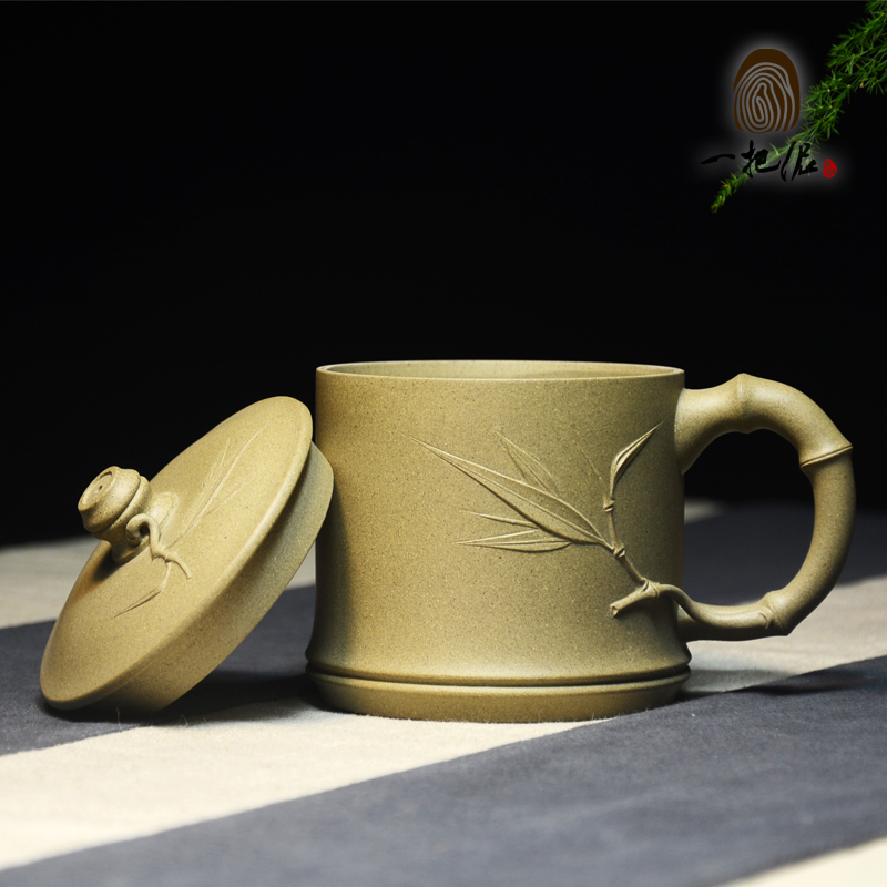 Ore yixing purple clay tea cup lid section triquetra famous handmade teapot tea boutique office of the hill section of mud