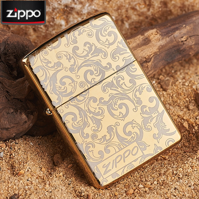 Original authentic genuine zippo windproof zippo lighters sided gold ice arabesque zippo lighters