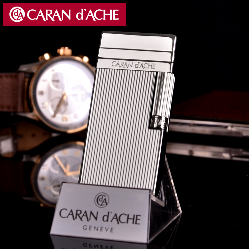 Original genuine swiss caran d 'ache kellan timor CD40-4005 silver lighter flint lighter inflatable