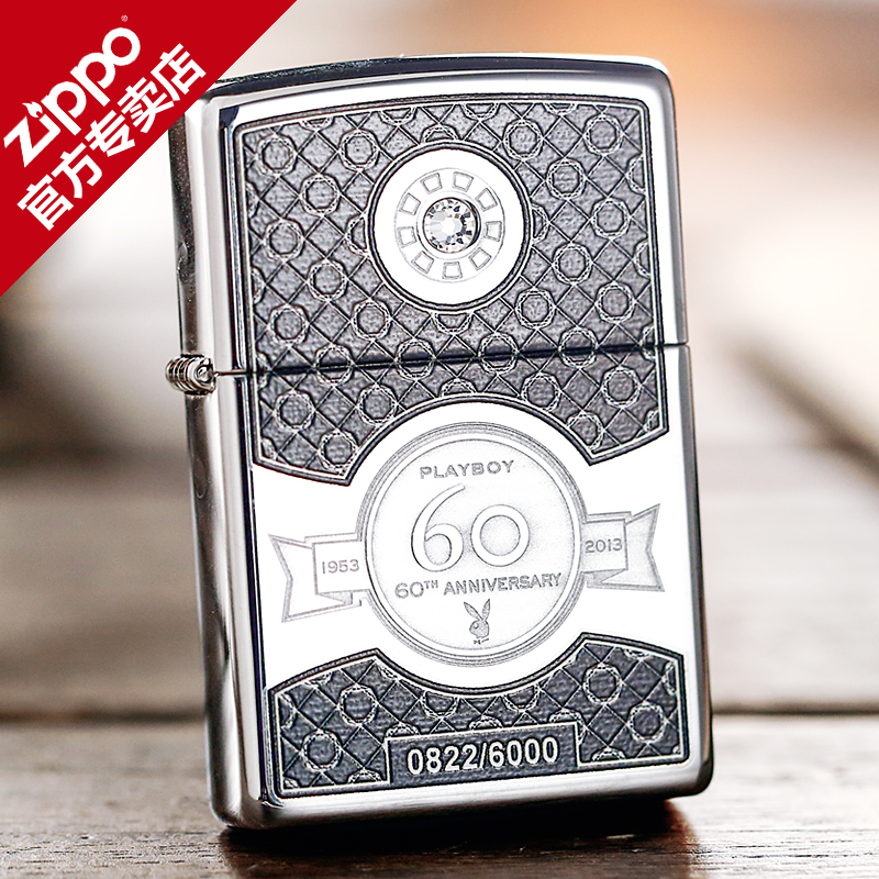 Original genuine zippo lighter playboy 60 anniversary limited edition commemorative edition 28735 print collection