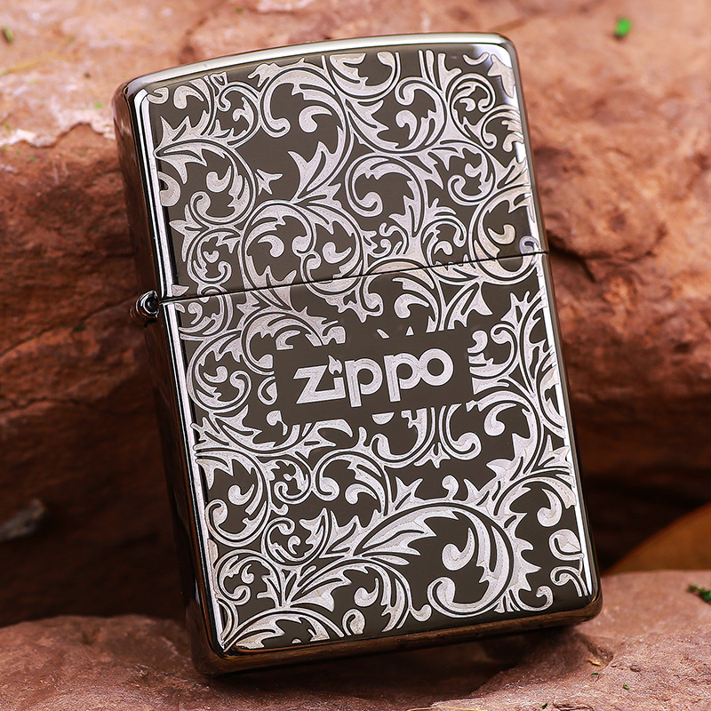 Original genuine zippo windproof lighter kerosene genuine original counter genuine zippo lighters black ice arabesque 150