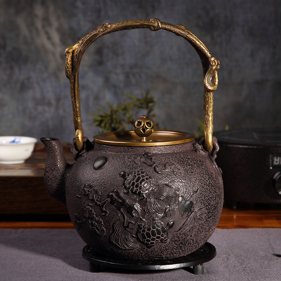 Original handmade southern iron pot uncoated cast iron pot iron teapot southern japan iron kettle old iron kettle pot teapot