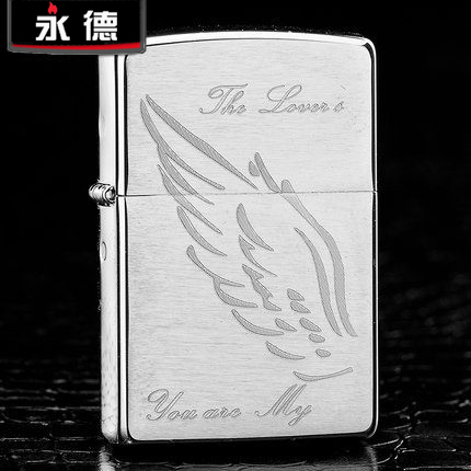 Original limited edition genuine zippo lighters zippo thin windproof zippo genuine brushed angel wings