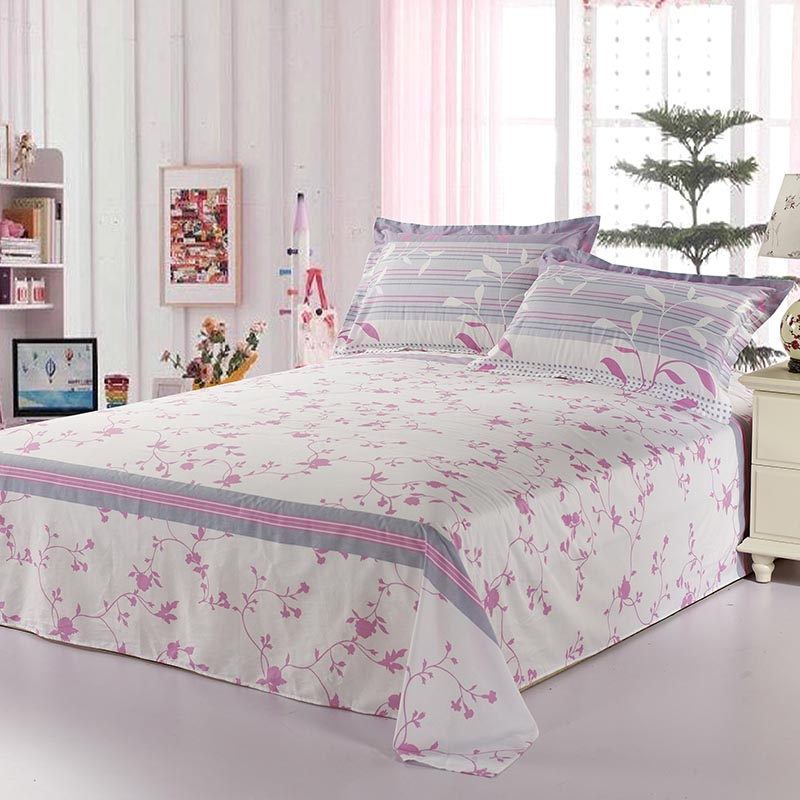 Originated from amoy textile cotton sheets single piece of cotton bed linen double single boutique striped linen single product i