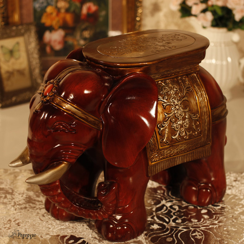 Awesome Get Quotations · Ornaments Elephant Elephant Stool Changing His Shoes Stool  European Home Decor Living Room Furnishings Lucky Elephant
