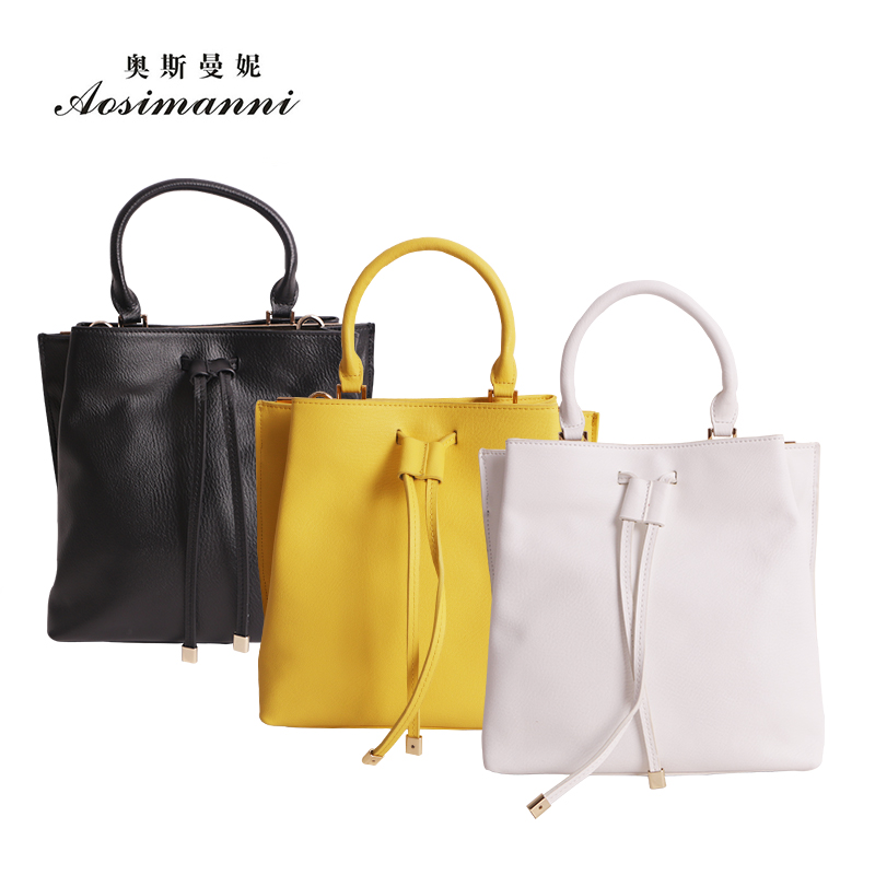 Osmund borderies genuine leather female header layer of leather handbags simple models leather handbags hand diagonal package