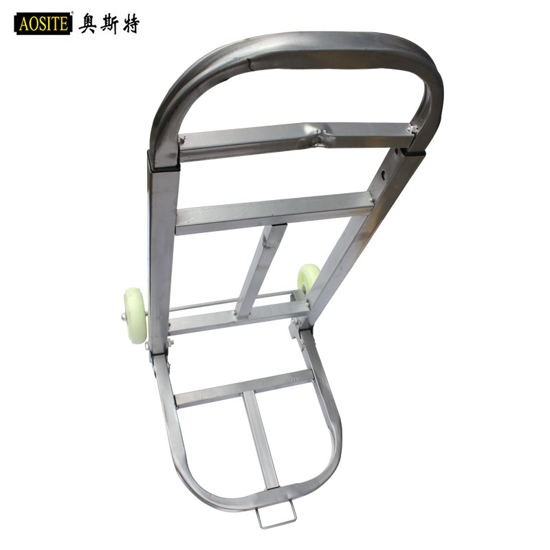 Oster white square tube folding car white wheels luggage cart trolley riders pull carts trolley car to buy food cart shopping Car