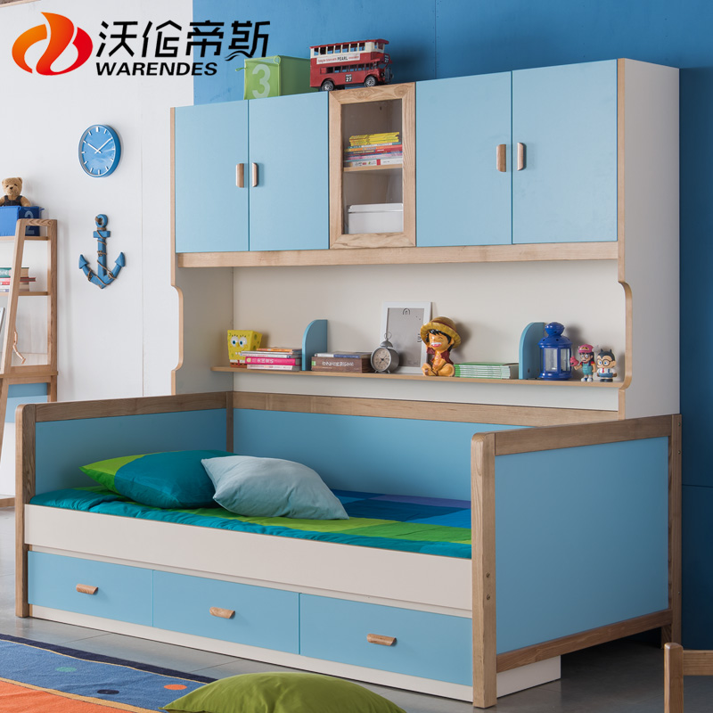 Otis warren multifunction bed children's wardrobe bed bed bed wood storage bed ash wooden bed bunk bed with wardrobe