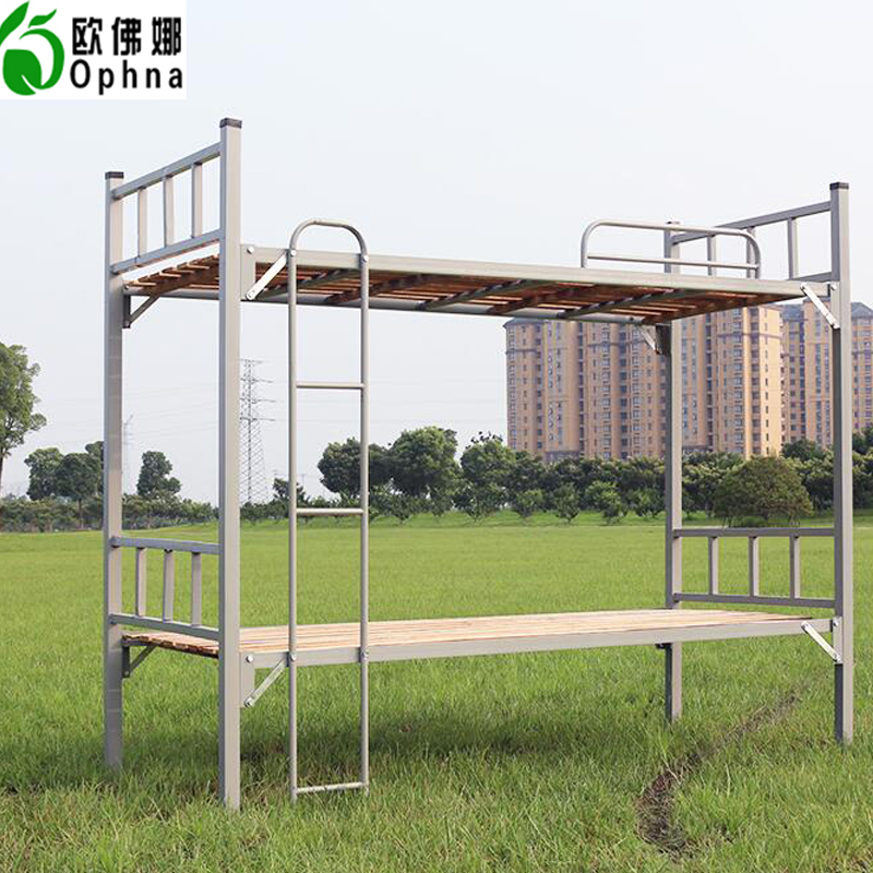 Oufo na thick iron bed bunk bed bunk beds employees beds iron bed student dormitory bunk bed wood bed mother and child bed