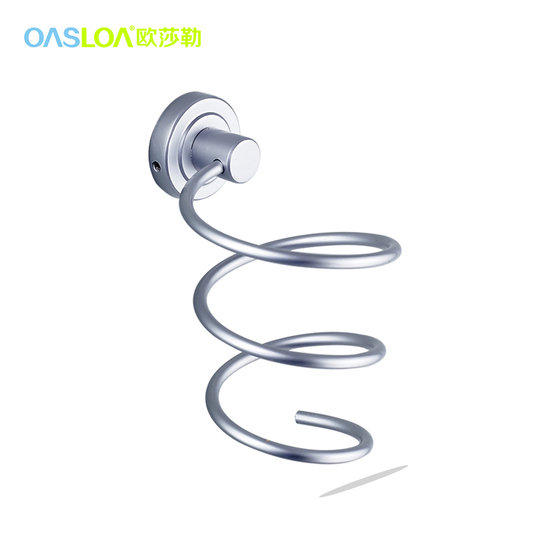 Ousuo le bathroom hardware space aluminum bathroom accessories bathroom wall shelves bathroom wall hair dryer rack