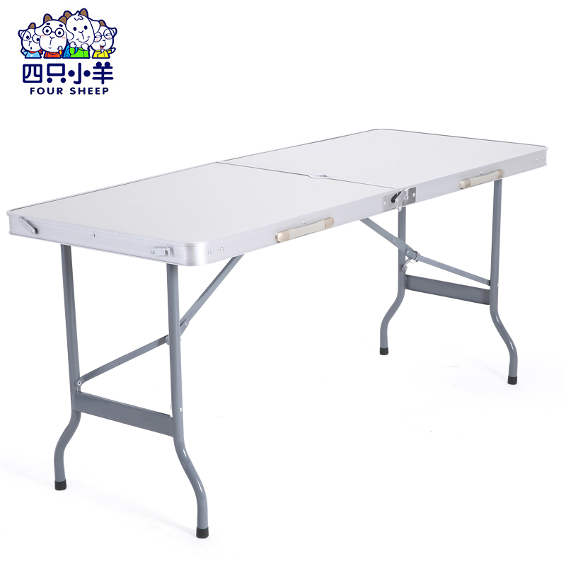 Outdoor folding table folding table table table stall stall table portable folding table aluminum table 1.5 m
