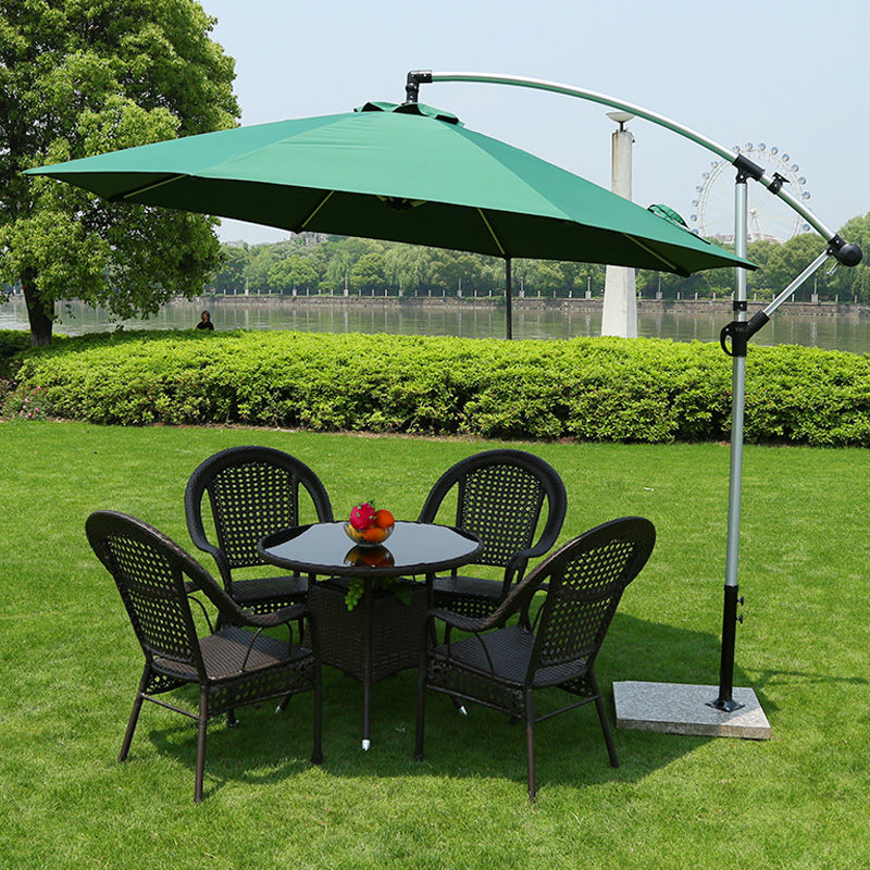 Outdoor furniture rattan chair three sets of rattan balcony tables and chairs outdoor garden patio leisure furniture umbrella combination