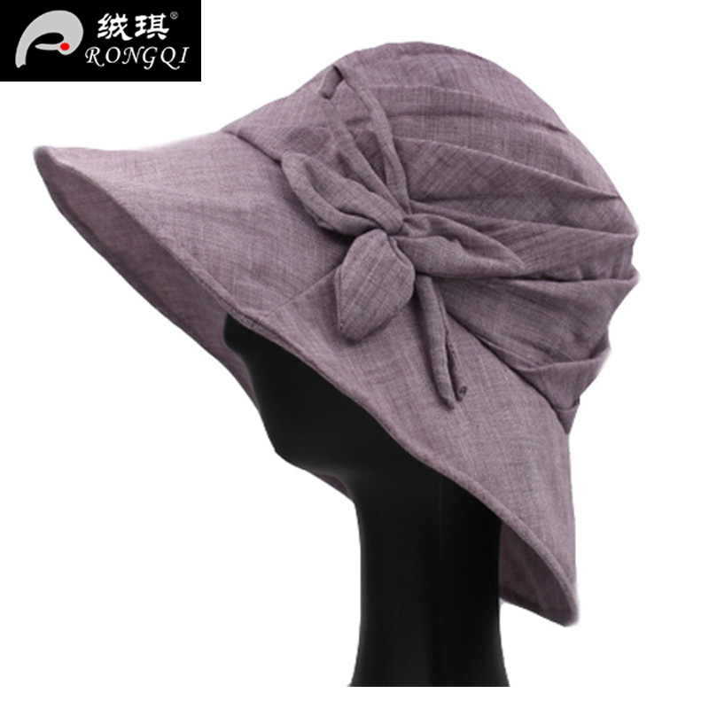 660fbdeb617 Get Quotations · Outdoor travel sun hat fisherman hat ladies spring and  summer thin gauze mom flowers collapsible bucket