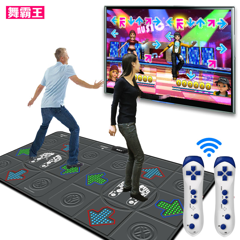 Overlord dance dance mat double tv interface computer dual dance dance revolution + somatosensory home console machine slimming machine