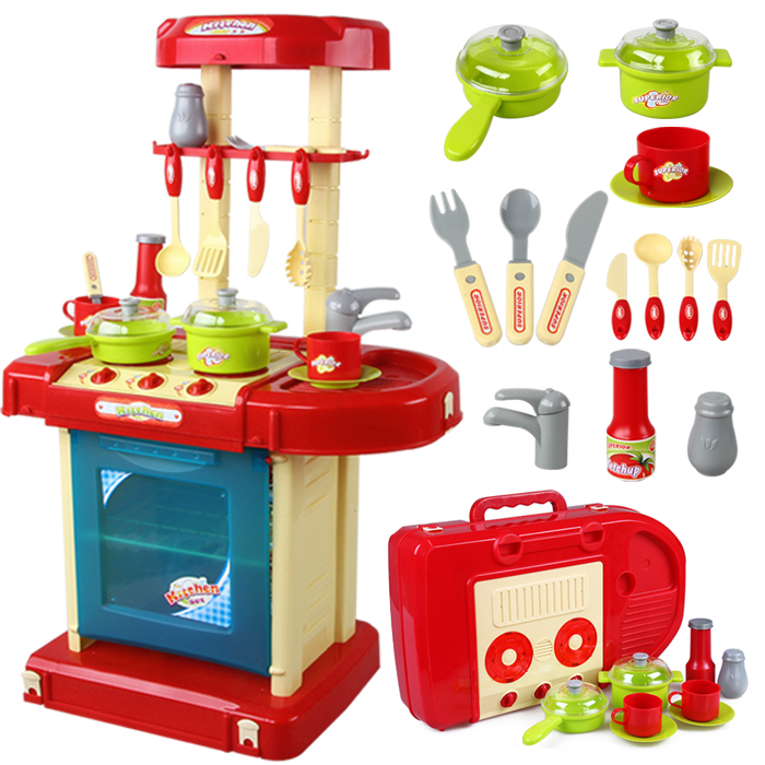 Oversized children's play house toys girls play house kitchen cooking utensils simulation toy doctor kit