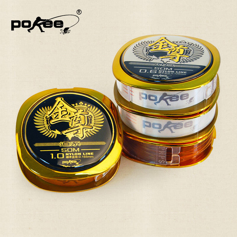 Pacific fishing pokee main strands of nylon 50 gold statue gold authentic athletic fishing line