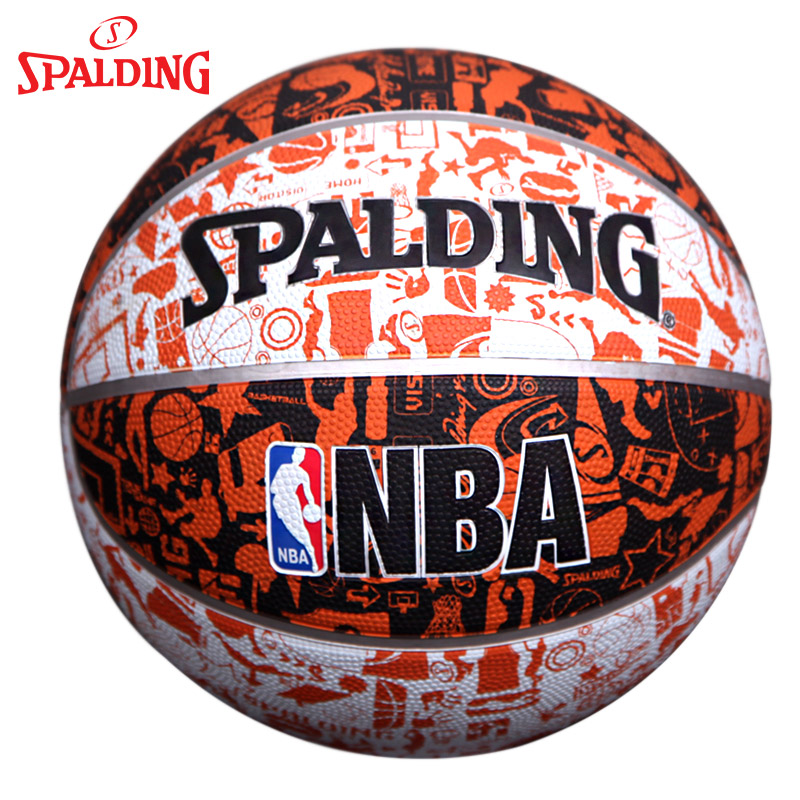 Package sf spalding nba basketball genuine graffiti series of hard rubber ball street wear and outdoor basketball