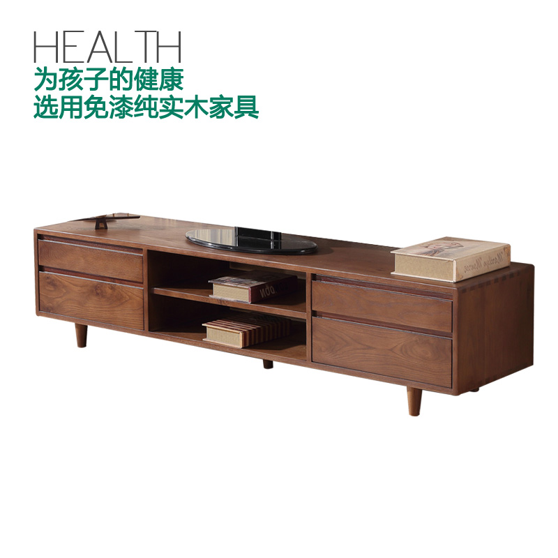 Paint green full of chinese wood tv cabinet oak wood lying on the living room cabinet room tv cabinet small walnut Units