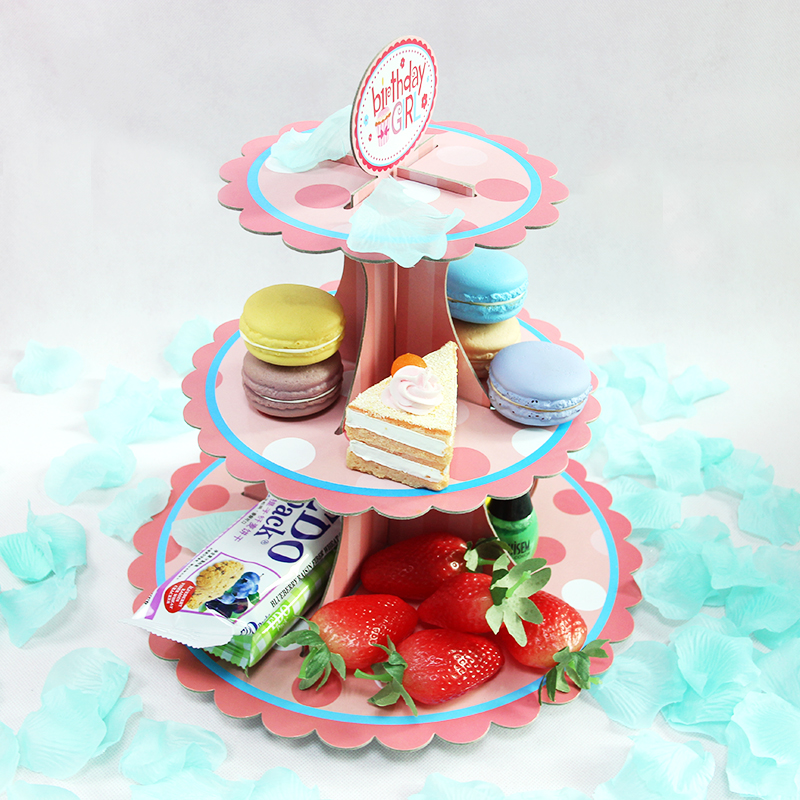 Paper cake rack tray wedding birthday party dessert station decorative ornaments shelf bao bao birthday supplies furnished