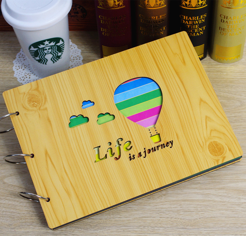 Paper stubborn waterproof pocket to send home wood surface creative diy album of the paste style handmade treasure treasure couple family gift