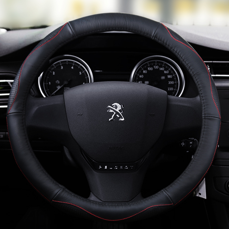 Paragraph 2016 car steering wheel cover peugeot 308 408 508 301 2008 3008 special leather grips