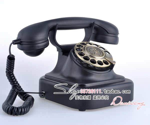 Paramount 1928 european antique rotary dial telephone vintage retro mechanical bell creative home landline
