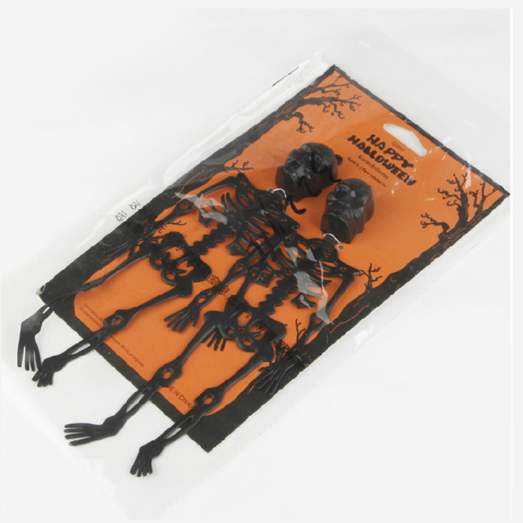 Party magic square skeleton skull tricky halloween masquerade halloween supplies decorative dress