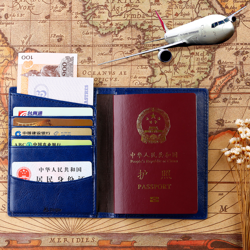 Passport cover travel passport holder sets of documents package multifunction leather passport holder passport cover passport protective sleeve