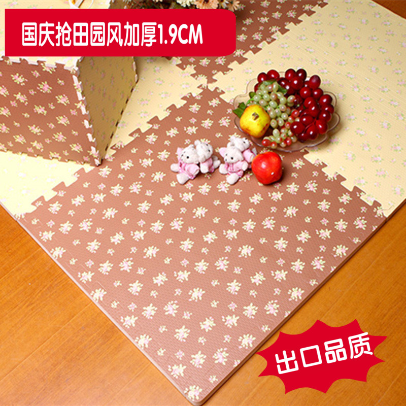 Pastoral style foam mats carpet queen bedroom living room windows and bedside carpet floor mats can be cut and spliced块子