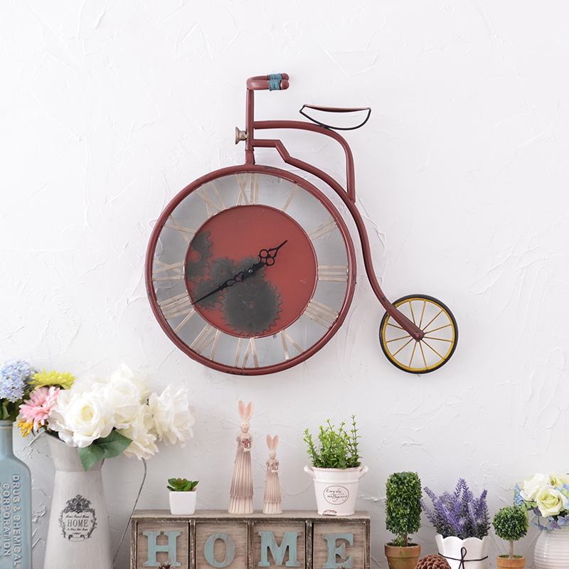 Pastoral vintage wrought iron bicycle wall cafe bar creative home decorations wall hangings wall hangings wall soft