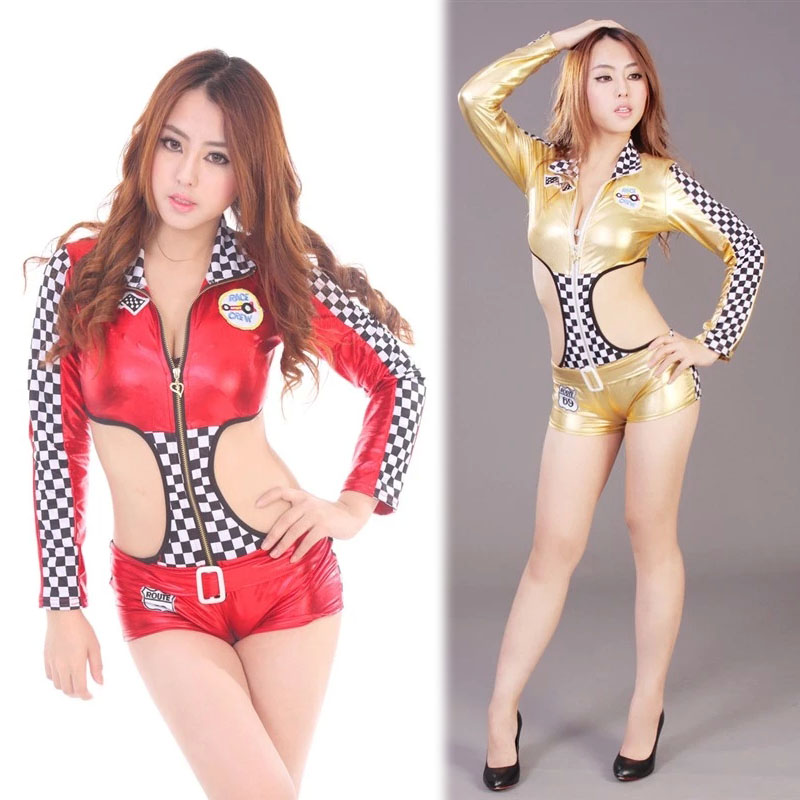 Back To Search Resultsnovelty & Special Use Women Car Models Racing Suits Nightclubs Uniform Temptation Pole Dancing Lead Dancer Clothing Belly Dancing