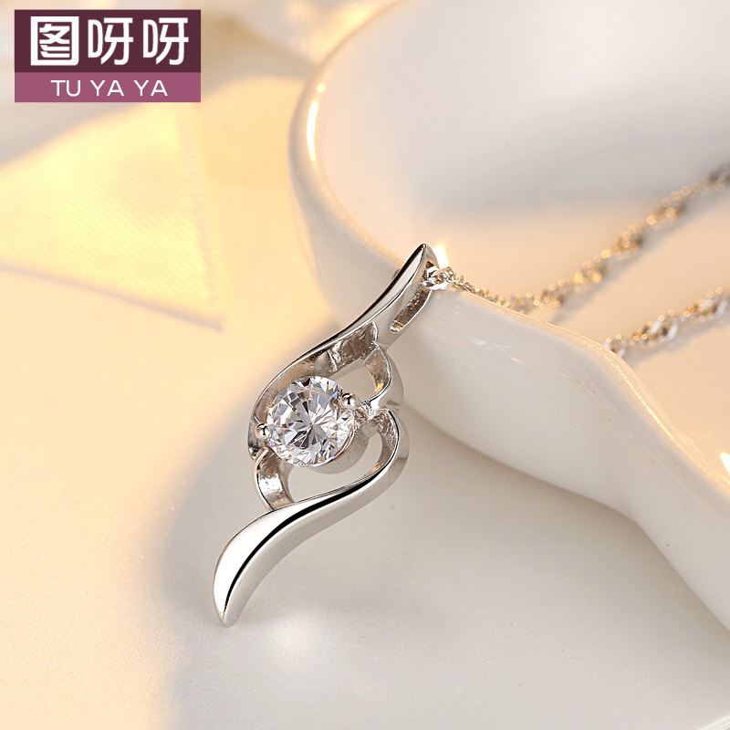 Pendant female korean fashion long necklace female short paragraph clavicle chain pendant jewelry lovers valentine's day gift