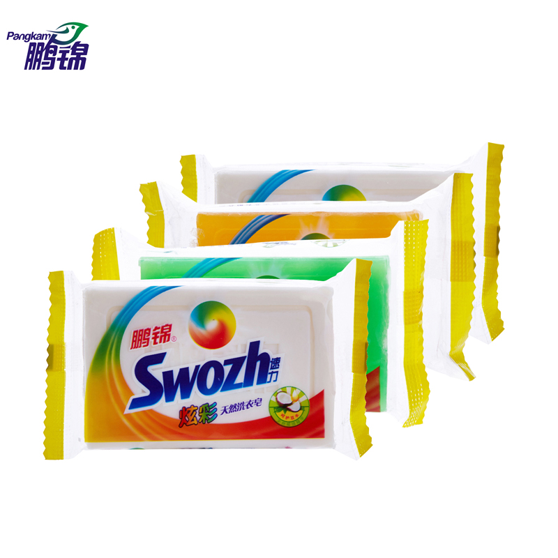 Peng jin speed power bright natural coconut essence of laundry soap soap 268g * 4 2块loaded strong force to Random mix of fouling