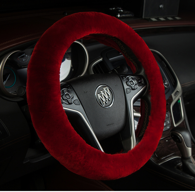 Pentium x80 b50 b70 refine s3 s5 autumn and winter pure wool car steering wheel cover short cashmere grips