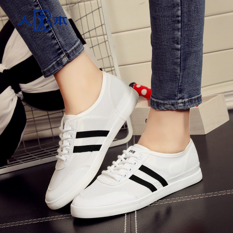 People canvas shoes women shoes summer mesh canvas shoes to help low student flat shoes white shoes tide shoes women shoes