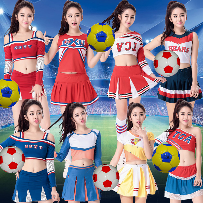Performance clothing cheerleading apparel/cheerleading costumes adult student groups aerobics dance clothes suit summer