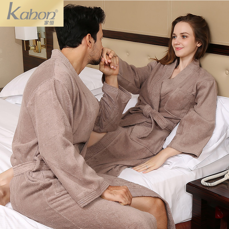 Permanent home hotel cotton toweling bathrobe cotton bathrobe bathrobe couple nightgown thick absorbent adult men and women