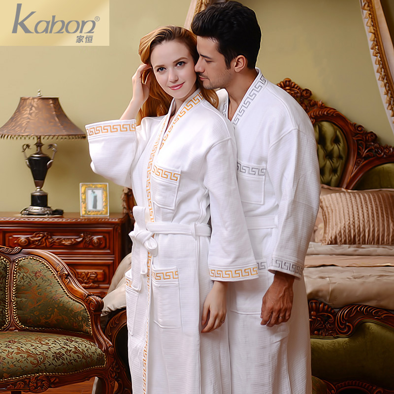 0624068ef8 Get Quotations · Permanent home star hotel cotton toweling bathrobes for men  and women couple pajamas autumn and winter