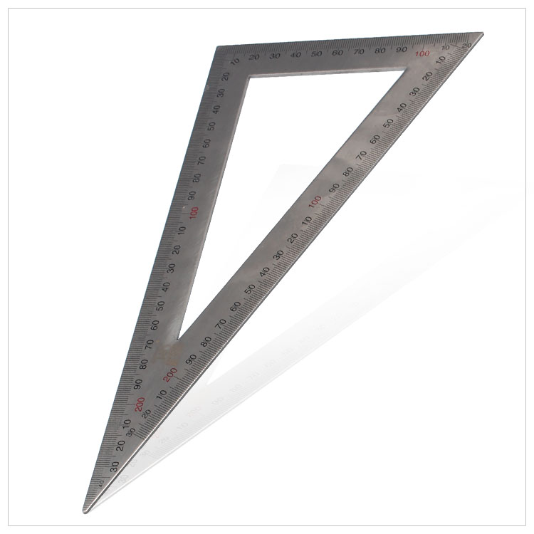 Persian tool stainless steel triangle ruler 20x40 cm (large) 12 * 25CM small 90 degrees Angle ruler