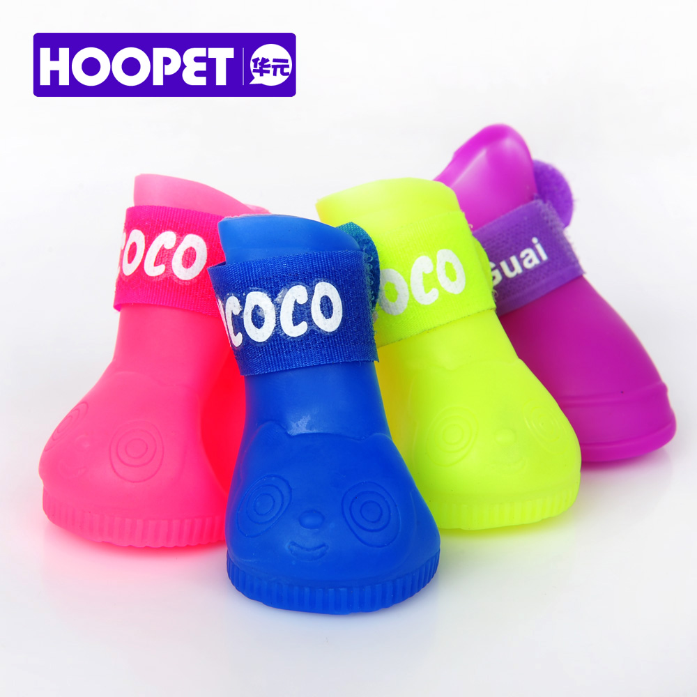 Pet dog rain boots shoes pomeranian poodle teddy bichon schnauzer puppy rubber waterproof shoes summer