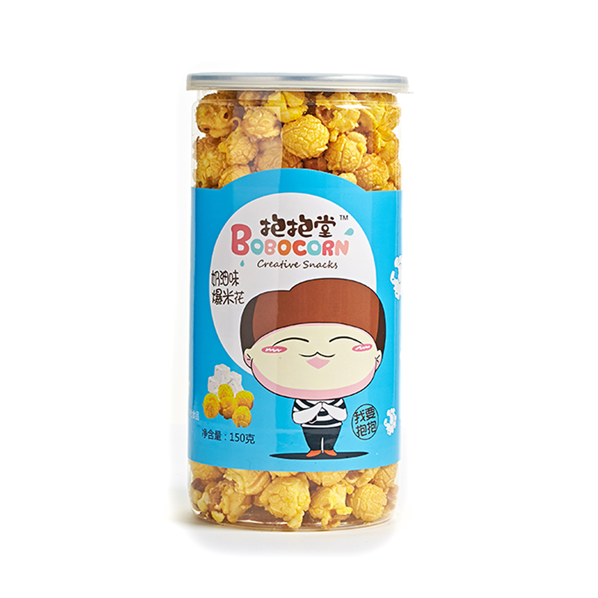 Pets live the same paragraph hug chinese fire popcorn ball hall creamy snack 150g * 1 cans