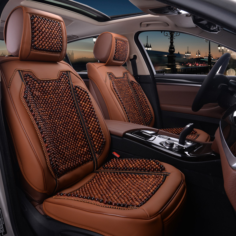 Peugeot 2008 trend edition to wear beads handmade natural wooden craft wooden bead seat cushion car mats liangdian